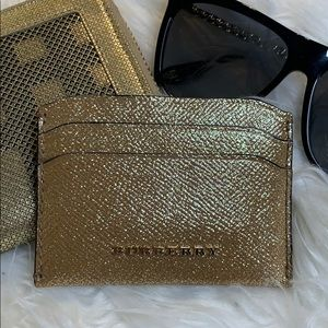 Authentic Burberry Gold Cardholder